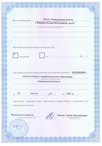 Лицензия 2 страница